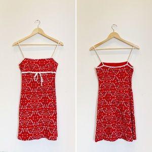 VINTAGE Fitted 1990's Bandana Print Tank Dress